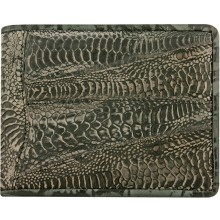Genuine hen / chicken leather wallet HWAL503 D. Grey