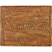 Genuine chicken / hen leather wallet HWAL506 Brown