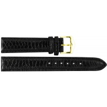 Genuine chicken / hen leather watch band HWB001 Black