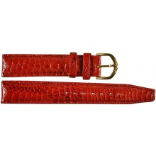 Genuine chicken / hen leather watch band HWB001 Red