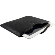 Genuine ostrich leather iPad 2 / iPad 3 sleeve IPAD2-3-SL01OS Black