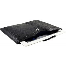 Genuine python leather iPad 2 / iPad 3 sleeve IPAD2-3-SL01PT Black