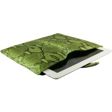 Genuine python leather iPad 2 / iPad 3 sleeve IPAD2-3-SL01PT Green