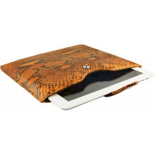 Genuine python leather iPad 2 / iPad 3 sleeve IPAD2-3-SL01PT Orange