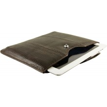 Genuine snake leather iPad 2 / iPad 3 sleeve IPAD2-3-SL01SSN Dark Brown