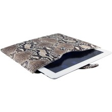 Genuine python leather iPad 2 / iPad 3 sleeve IPAD2-3-SL01PT Natural