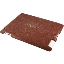 Genuine stingray leather iPad 2 case IPAD2-CP10SA Wine