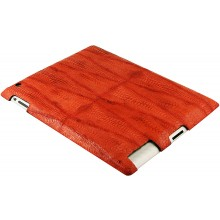 Genuine chicken / hen leather iPad 2 case IPAD2-HEN10 Red