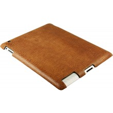 Genuine lizard leather iPad 2 case IPAD2-LIZ10 Tan