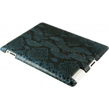 Genuine python leather iPad 2 case IPAD2-PT10 Cloud Blue