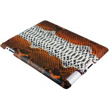 Genuine python leather iPad 2 case IPAD2-PT11 Tan / Natural