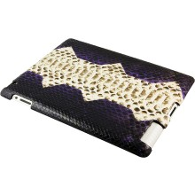 Genuine python leather iPad 2 case IPAD2-PT11 Violet / Natural