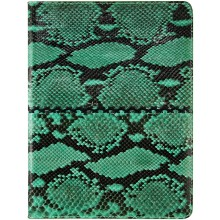 Genuine python snake leather iPad 2 case IPAD2-PT38 Green