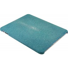 Genuine stingray leather iPad case IPAD-CP10SA Ocean Blue