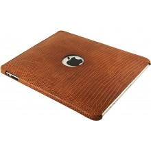 Genuine lizard leather iPad case IPAD-LIZ01 Tan