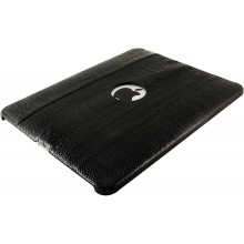 Genuine ostrich leg leather iPad case IPAD-OL01 Black