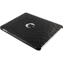 Genuine ostrich leather iPad case IPAD-OS01 Black