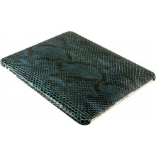 Genuine python snake leather iPad case IPAD-PT10 Cloud Blue