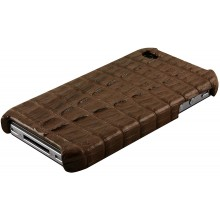 Genuine alligator leather iPhone 4 / 4S case IPHONE4-AL27TL Brown