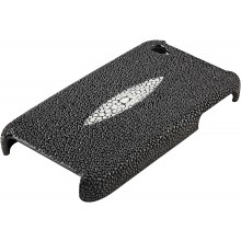 Genuine stingray leather iPhone 4 / 4S case IPHONE4-CP09 Black