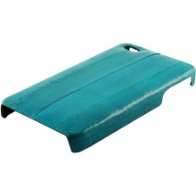 Genuine eel leather iPhone 4 / 4S case IPHONE4-EEL01 Turquoise