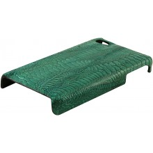 Genuine chicken leather iPhone 4 / 4S case IPHONE4-HEN01 Green
