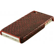 Genuine python leather iPhone 4 / 4S case IPHONE4-PT01 Burgundy