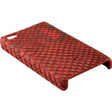 Genuine python snake leather iPhone 4 / 4S case IPHONE4-PT01 Red