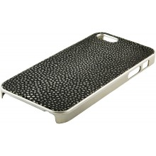 Genuine stingray leather iPhone 5 / 5s case IPHONE5-CP07SA Black