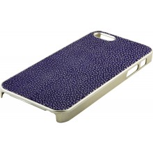 Genuine stingray leather iPhone 5 / 5s case IPHONE5-CP07SA Midnight Blue