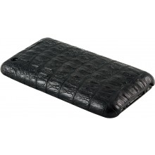 Genuine alligator leather iPhone case IPHONE-AL28MD Black
