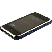 Genuine stingray leather iPhone case IPHONE-CP01 Blue