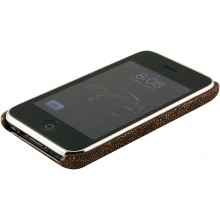 Genuine stingray leather iPhone case IPHONE-CP01 Brown