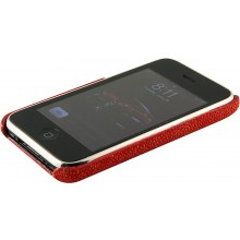 Genuine stingray leather iPhone case IPHONE-CP01 Fire Red