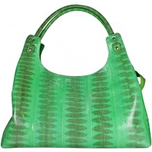 Genuine snake leather bag ISSNB125 Green