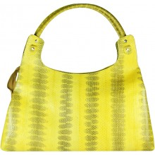 Genuine snake leather bag ISSNB125 Yellow