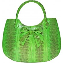 Genuine snake leather bag ISSNB309 Green