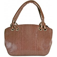 Genuine snake leather bag ISSNB777 Coffee