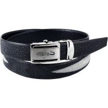 Genuine stingray leather belt ISSTBELT1-3-2B Black