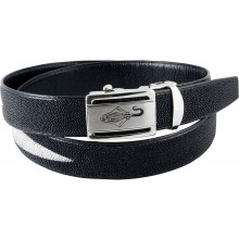 Genuine stingray leather belt ISSTBELT1-3-3B Black