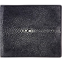 Genuine stingray leather wallet ISW001SA Black
