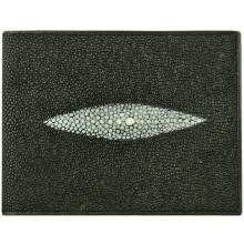 Genuine stingray leather wallet ISW007 Black