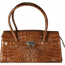 Genuine alligator leather bag JALB56 Brown
