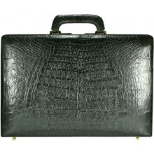 Genuine alligator leather attache case JB009B-G Black