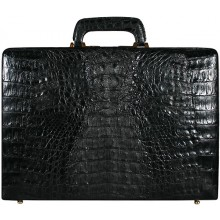 Genuine alligator leather atache case JBCP-G Black