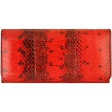 Genuine python leather wallet JSNW03L-PT Red