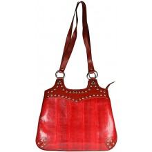 Genuine snake leather bag KTSNB016 Fire Red