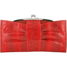 Genuine snake leather bag KTSNB018 Fire Red