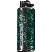Genuine crocodile leather lighter holder L01 Green