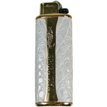 Genuine crocodile leather lighter holder L01 Ivory